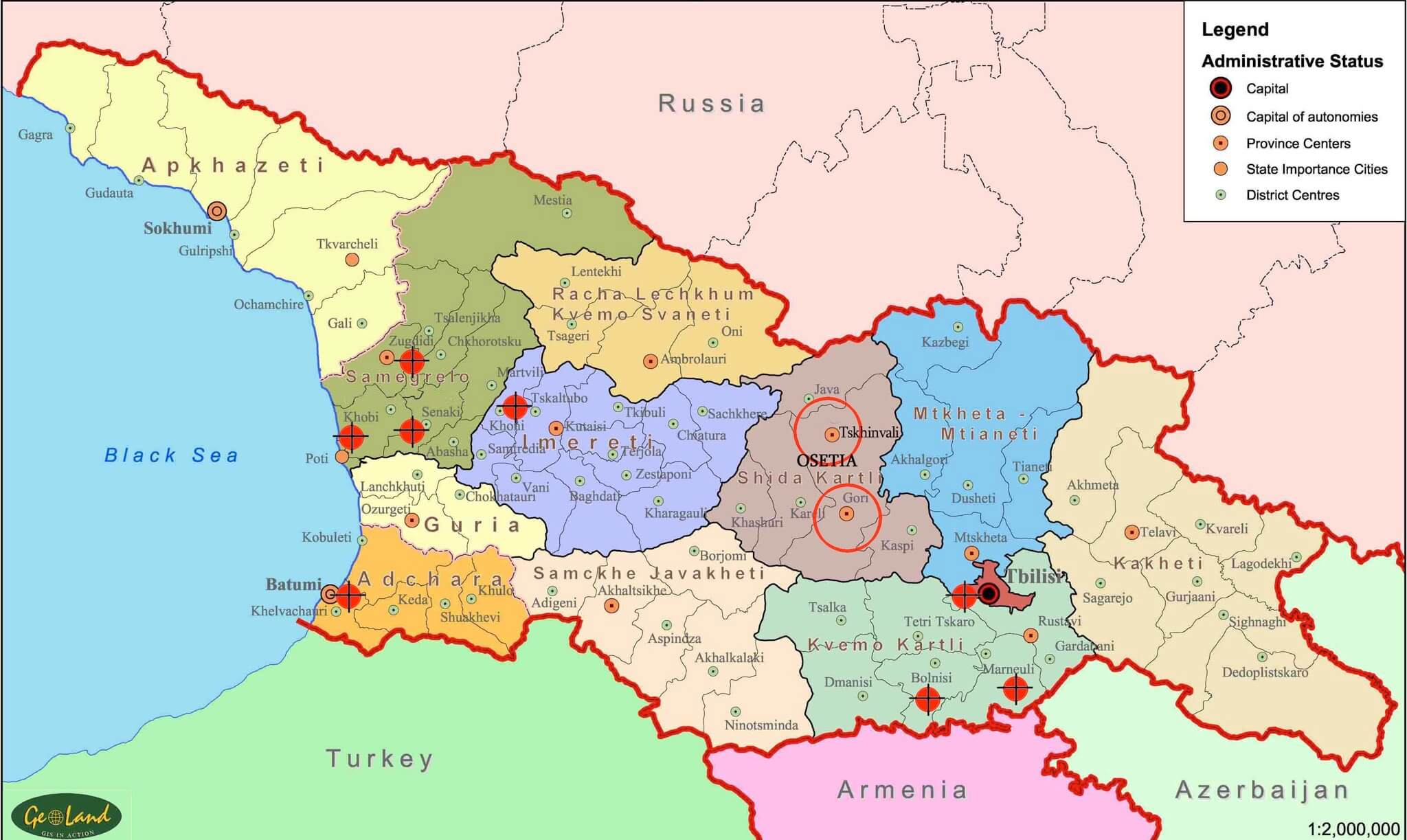 The National Cuisines Of The South Caucasus As A Melting Pot Of - Political map of armenia