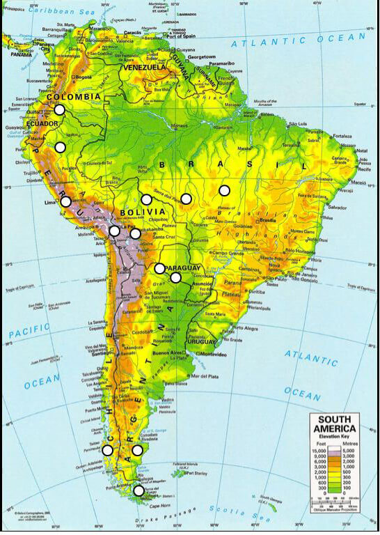 Latin America Topographic Map: South America Map Elevation At Codeve.org