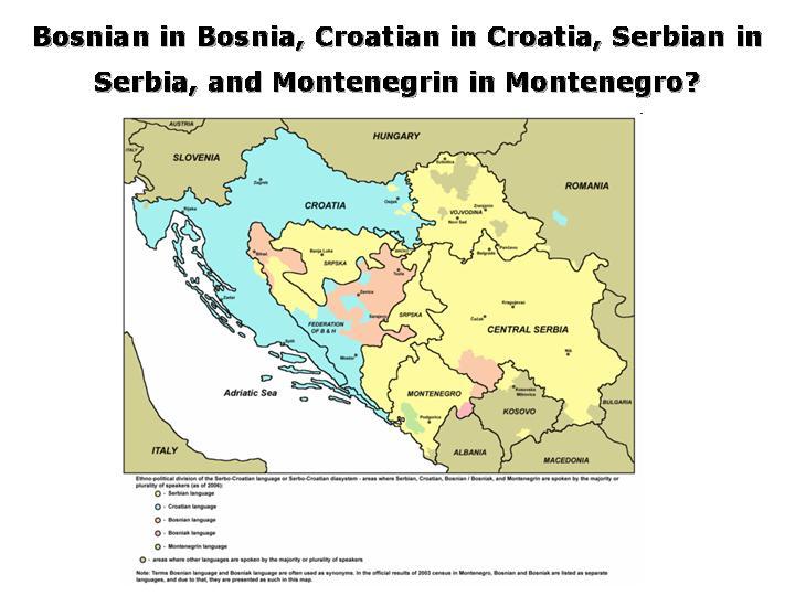 Serbo croatian a tale of two languagesor three or four bosniancroatianserbianmontenegrinbosniak gumiabroncs Gallery