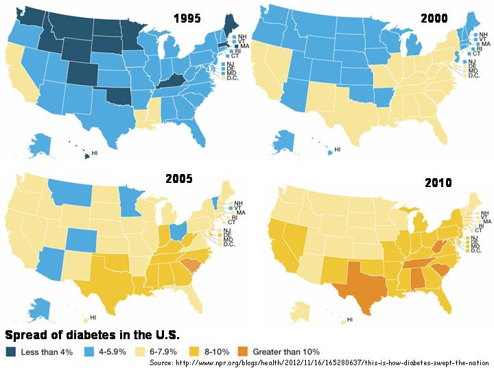 Diabetes Map Us - Time change map usa
