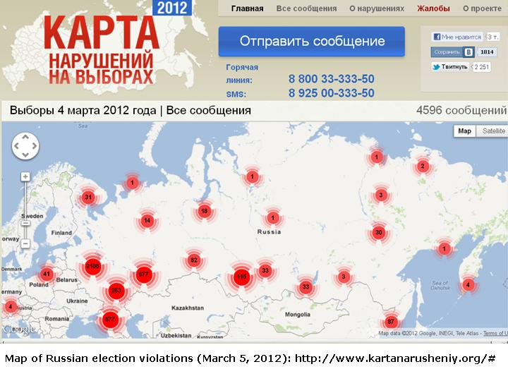 Crowdsourcing Russian Election Violation Maps Languages Of The World - Map violation