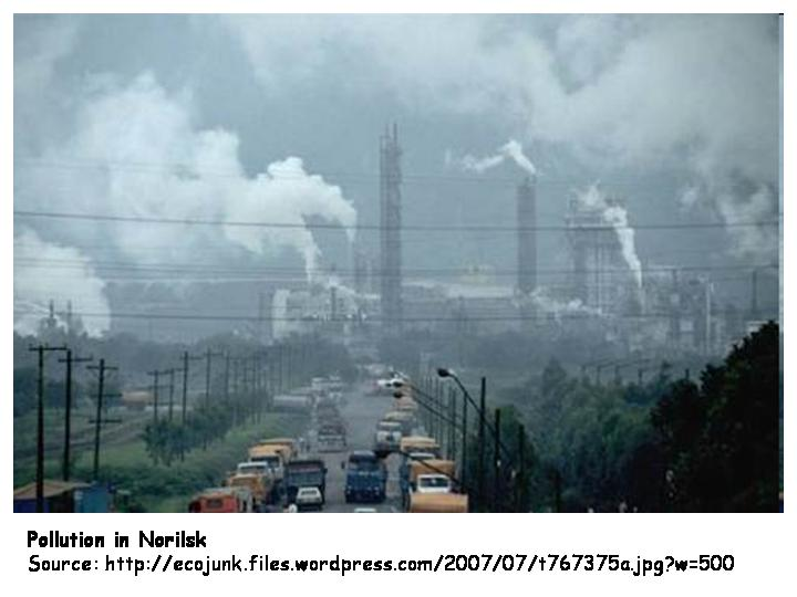 Pollution Problems In Norilsk Languages Of The World