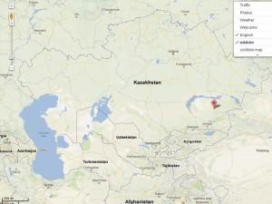 Ushtobe_location_map