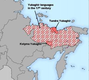 Yukaghir languages map