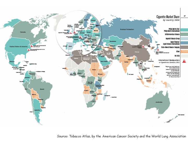 Global patterns of tobacco related economic issues languages of cigarettemarketshare gumiabroncs Image collections
