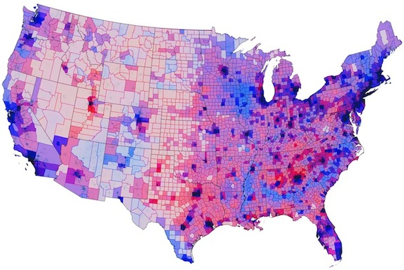 Election Population Density Map