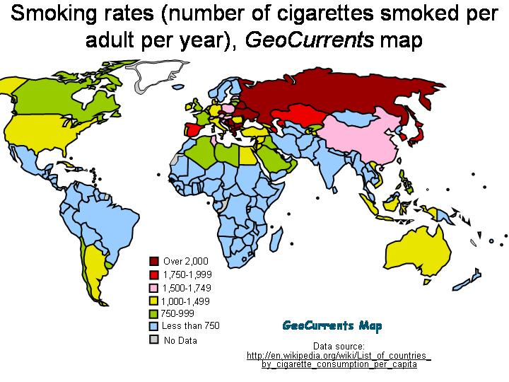 Are We The United States Of Smoking Languages Of The World - Smoking rates us map