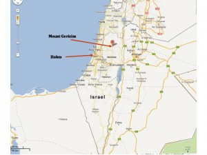 Mount Gerizim_Holon_map