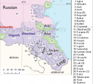 dagestan_Language_map