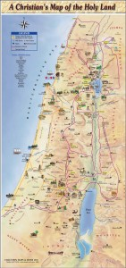 Christian map Holy Land