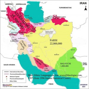 Azeri Iran map