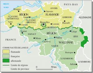 Belgium language map