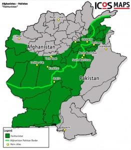 Pushtunistan map