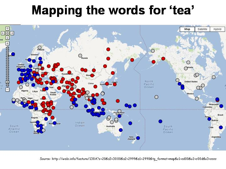 Linguistic Map Of China.What Will You Have Tea Or Chai Languages Of The World