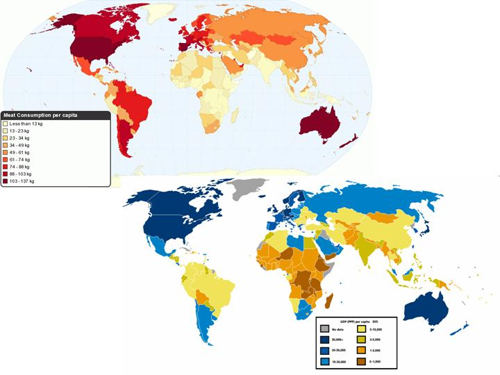 Global Geography of Meat (and Fish) Consumption - Languages ...
