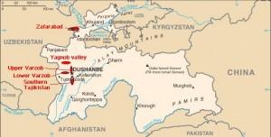 Yaghnobi_tajikistan-map