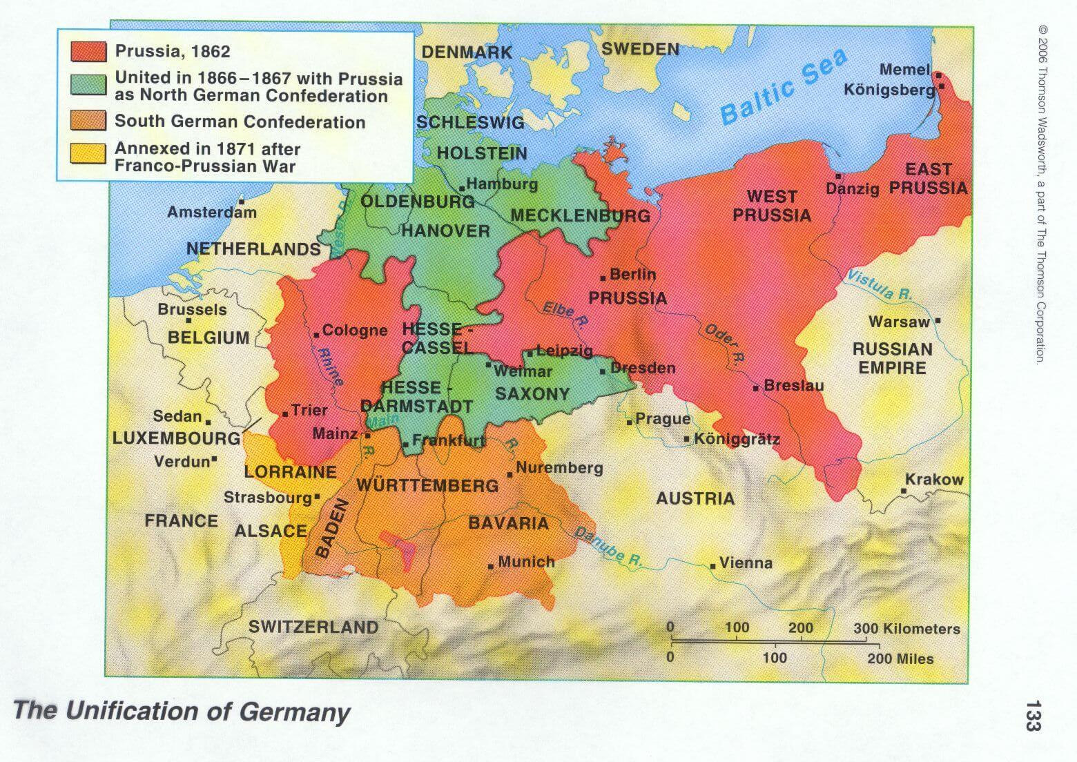 Map Of Germany Before Unification.Map Of Twentieth Century Europe Imagined In 1863 Languages Of The